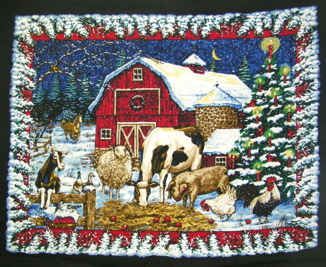 45 Christmas Quilt Panel
