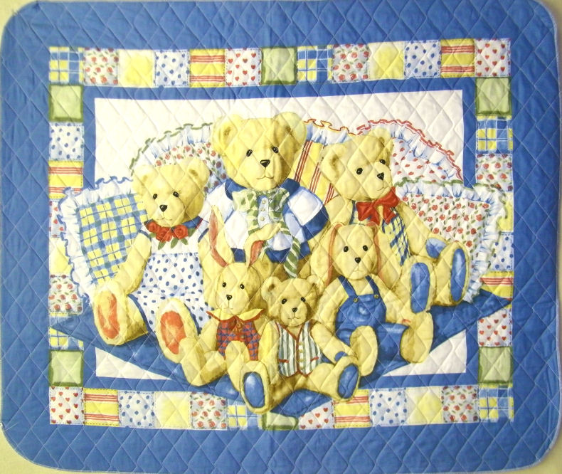 Quilted Pillowbean Nursery & Blue