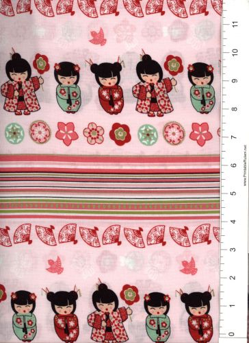 """1 BOLT 45/"""" SMALL WONDERS BY MARY FONS CHINA LADY N MAN 15 YARDS 57004"""