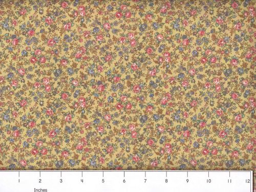 100/% Cotton MDG Faded Floral Lemon Yellow